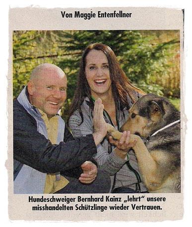 Bernhard Kainz lehrt misshandelte Hunde wieder  Vertrauen
