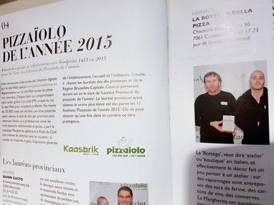 meilleurs pizzaiolo de belgique 2015 hainaut la bottega della pizza foodprint 1415