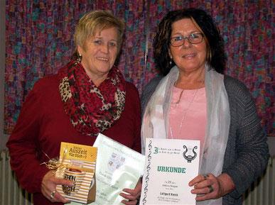 Ehrung Luitgard Karch - 25 Jahre Aktive Singen - 2019
