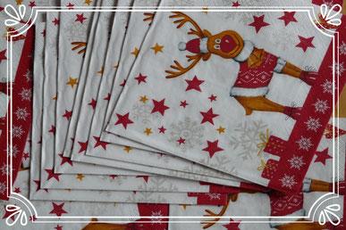 Tischdeko Weihnachten Servietten
