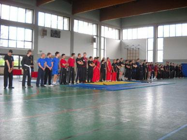 i partecipanti gare ARNIS a Gallarate 11.04.2010