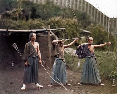 colorierte, historische Fotos