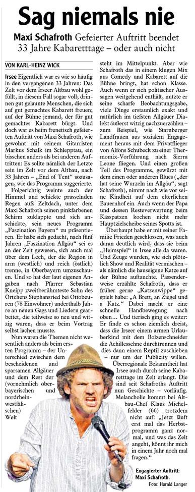 Kleinkunstverein-Altbau e.V. - Maxi Schafroth