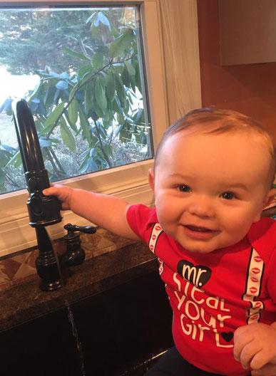 Rick's son Talon on the Job at 9 months !