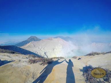 Auf dem Vulkan Ijen