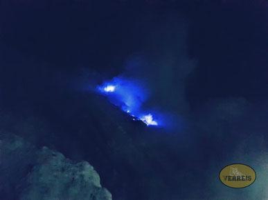 Blaue Flamme vom Ijen
