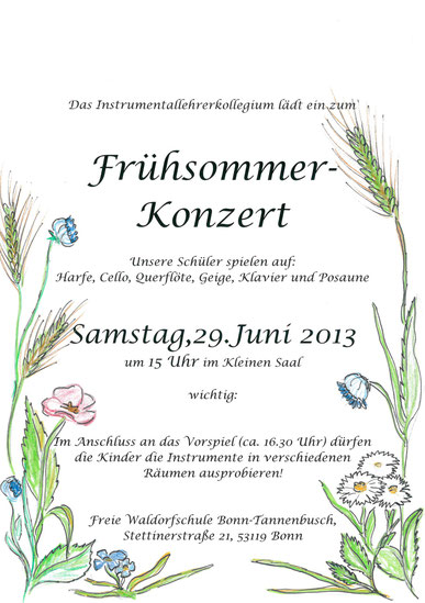 Frühsommer-Konzert, FWS Bonn