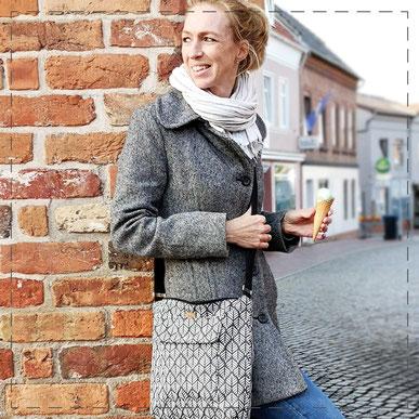 Julia Design Stoff Baumwolle handmade Handarbeit schön Tasche Handtasche Umhängetasche Marie