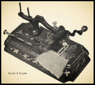 Shaw & Clark Running Stitch Machine