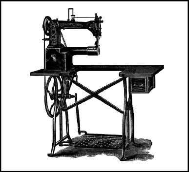 Wheeler & Wilson Single Needle Left Hand Cylinder Machine