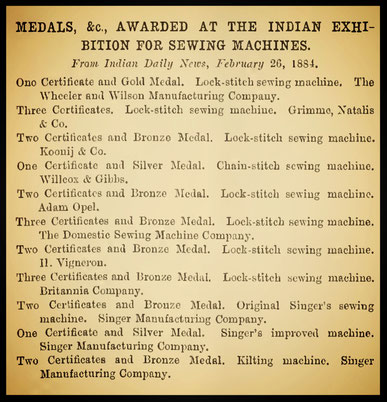 INDIAN EXHIBITION  1884