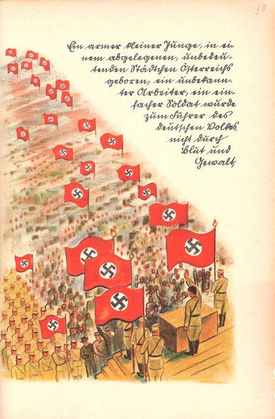 """Karl Springenschmid & Poldi Wojtek (1936). """"Eine wahre Geschichte. Worte und Bilder von zwei Deutschen aus dem Auslande"""", Stuttgart 1937 (Autorenangaben lt. Katalogisat: """"Springenschmid, Karl und Mühlmann, Poldi bzw. Leopoldine"""")"""