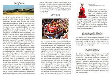 """Heimat- und Geschichtsverein Steinfurth """"Die Rosisten"""" e.V."""