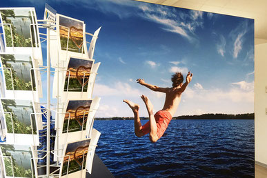 Urlaub Malente Postkarten Wand