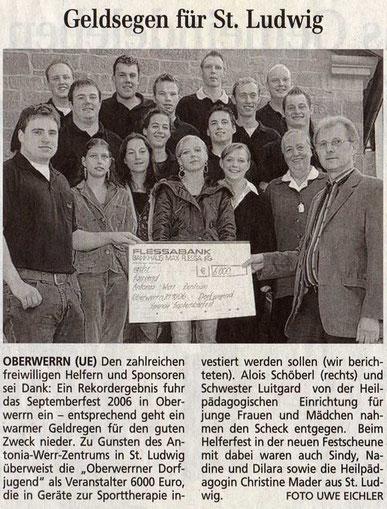 27.10.2006 Schweinfurter Tagblatt