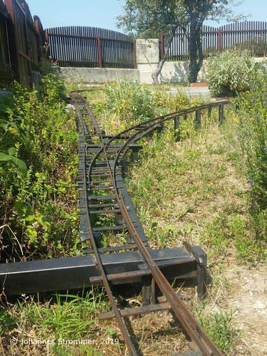 Abbildung 6: Rampenstrecke meiner Gartenbahn 5 Zoll auf Stelzen