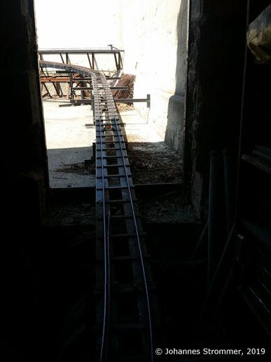 Gartenbahn 5 Zoll: Blick auf die große Rampe.