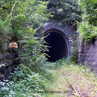 Bahnstrecke Weissenbach-Neuhaus - Hainfeld (Leobersdorfer Bahn); Ostportal Gerichtsbergtunnel.