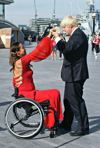Diana Morgan-Hill and Boris Johnson