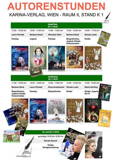 BuchBerlin 2018, Karina-Verlag, Autoren-Stunden