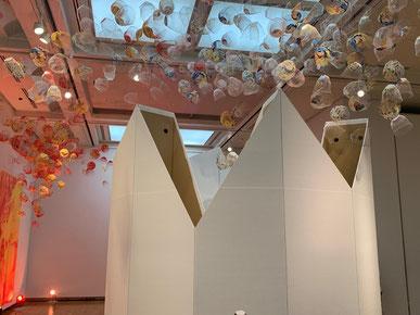 福岡アジア美術館できくちちきさんがライブペイント