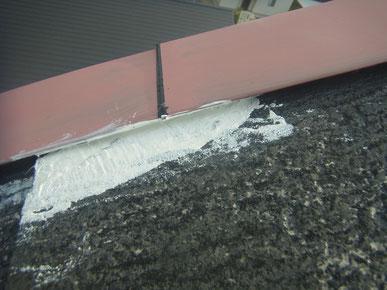 屋根はひび割れ修理後塗装 熊本〇様家