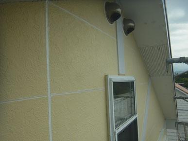 外壁コーキング打替え後塗装
