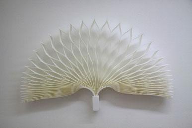 PAPIER-art ART-papier, Wandobjekt aus Papier, einzelne Papierschichten, Unikat, Harald Metzler, Mattsee, Austria