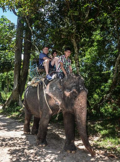 Unterwegs in Thailand - der Natur auf der Spur (Foto: Der Besitzer des Elefanten mit Daniels Kamera)