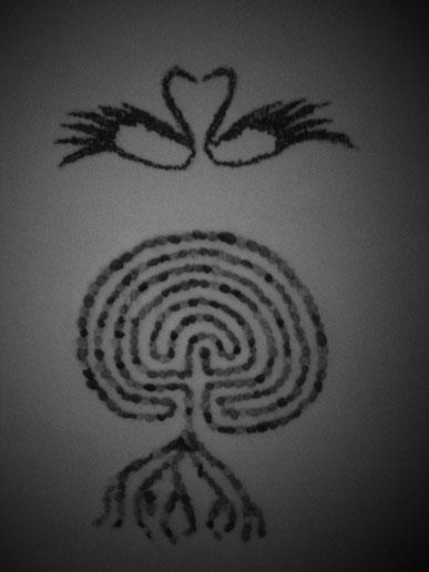 Labyrinth, Schwan Schwäne, Weg zur Erkenntnis