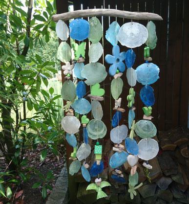 Windspiel in grün - blau - natur in sommerlichem Design