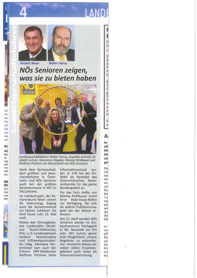 Frei-Zeit: Mitgliederzeitung des NÖ Seniorenbundes