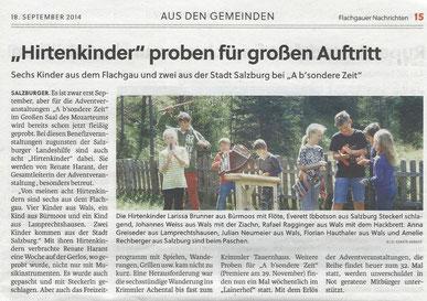 Flachgauer Nachrichten 18.9.2014