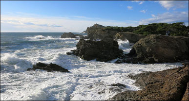 Vue sur l'ile des Embiez depuis le Gaou