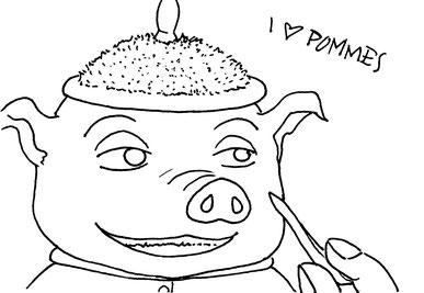 Ich habe mich lange davor gegrault Schweinsbarbaren zu zeichnen. Hier also ein Rumpel. Eigentlich gar nicht so schwierig wie erwartet...