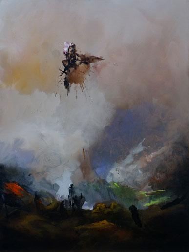 Le vagabond Acrylique sur toile dim 100cmx73cm