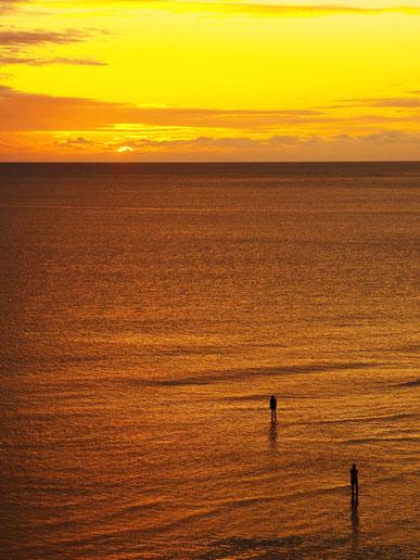 前の洲 夕陽