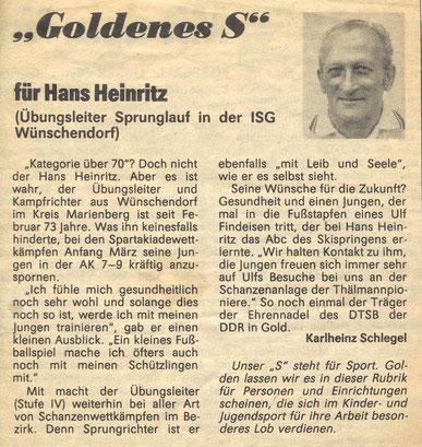 Bild: Wünschendorf Zeitung Heinritz