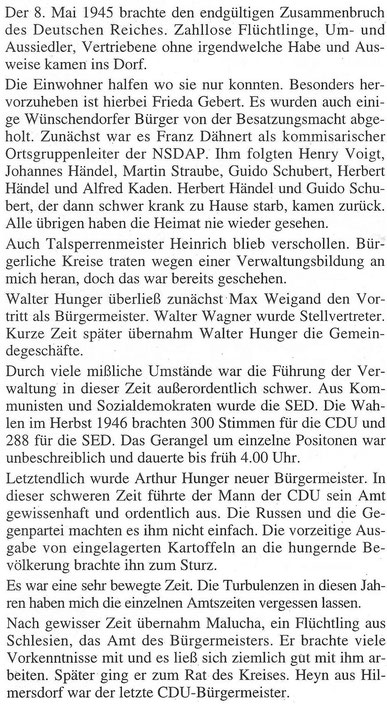 Bild: Wünschendorf Erzgebirge Wittig Bürgermeister