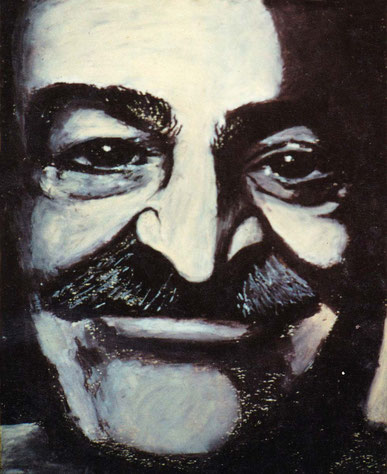 37. Meher Baba - Oil Pastel : Courtesy of Marge Libioron, India