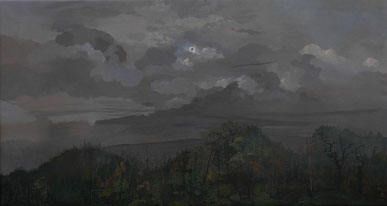 """Martin Guido Becker, """"Sonnenfinsternis"""", 2008, Öl/Lwd, 70/130 cm"""
