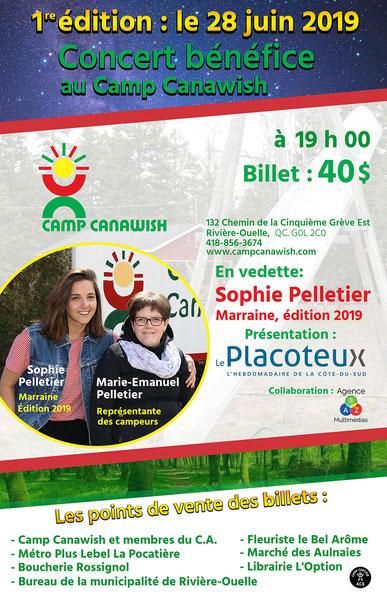 Sophie Pelletier, marraine édition 2019 et Marie-Emanuel Pelletier, représentante des campeurs. Crédit: Gérald Beaulieu