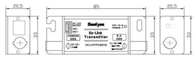 HD-SDI長距離&電源重畳伝送機(カメラ側) 図面