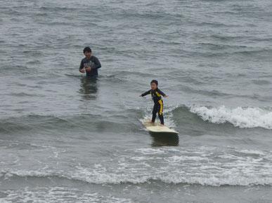 今日は波に乗ったらTMちゃんの方を見てね!って言ったらちゃんと見てくれました。