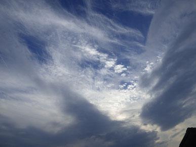 雲が幻想的でした。