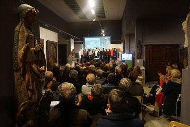 Salle comble le 10 février pour applaudir le choeur et les professeurs du conservatoire / Photo Facebook musée