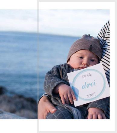 Baby Meilensteinkarten 3 Monate