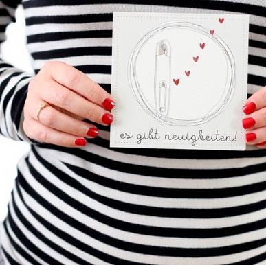 Meilensteinkarte Schwangerschaft Aquarell