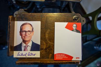 Autogramkarten Michael Müllers.