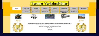 Internetseite Verekehrsblaetter.de